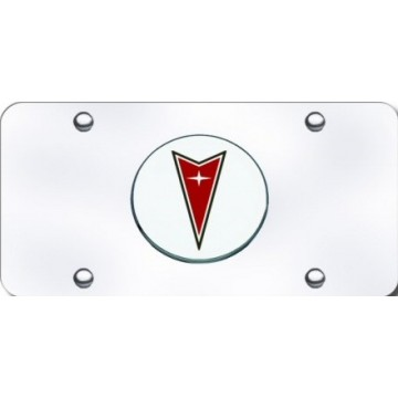 Pontiac 3D Stainless Steel License Plate