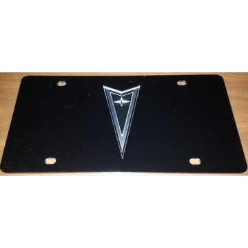Pontiac Black Laser License Plate