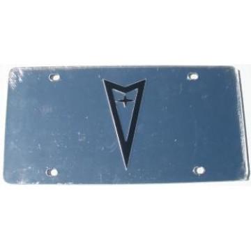 Pontiac Silver Laser License Plate