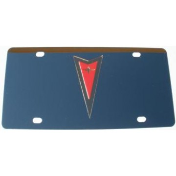 Pontiac Gold And Red Stainless Steel License Plate