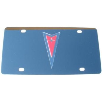 Pontiac Silver And Red Stainless Steel License Plate