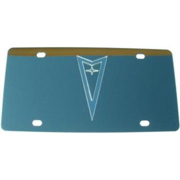 Pontiac Silver Logo Stainless Steel License Plate
