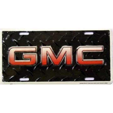 GMC Black Diamond License Plate