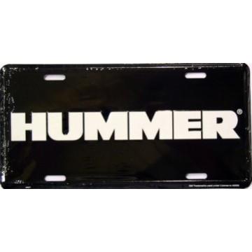 Hummer Black License Plate