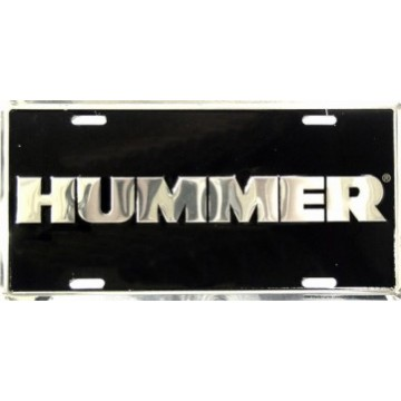 Hummer Anodized License Plate
