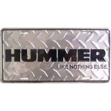 """Hummer """"Like Nothing Else"""" Diamond License Plate"""
