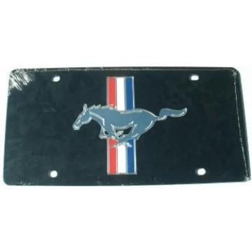 Mustang Black Laser License Plate
