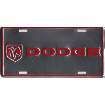 Dodge Chrome Metal License Plate