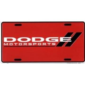 Dodge Motorsports Red License Plate