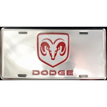 Dodge Anodized License Plate