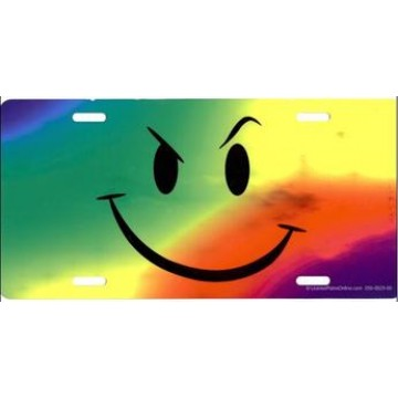 Attitude Face On Multi-Color Photo License Plate