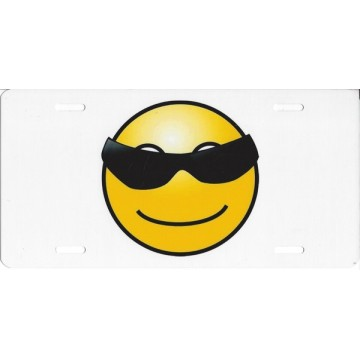 Cool Smiley Photo License Plate