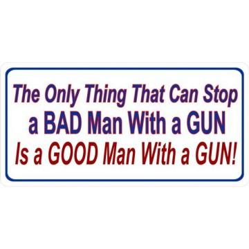 A Good Man With A Gun Photo License Plate