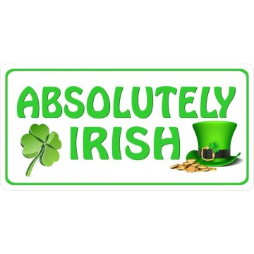 Absolutely Irish Photo License Plate