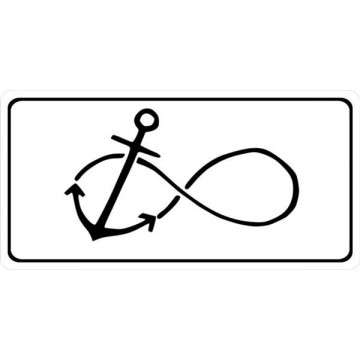 Anchor With Infinity Symbol Photo License Plate