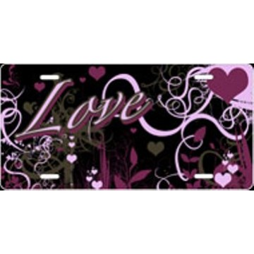 """Love"" Airbrush License Plate"