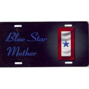 Blue Star Mother Airbrush License Plate