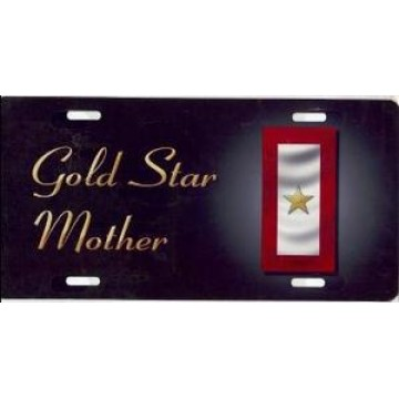 Gold Star Mother Airbrush License Plate