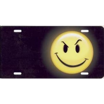 Attitude Face Offset On Black Airbrush License Plate