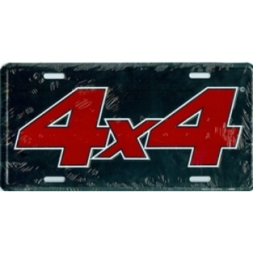 4x4 on Black License Plate