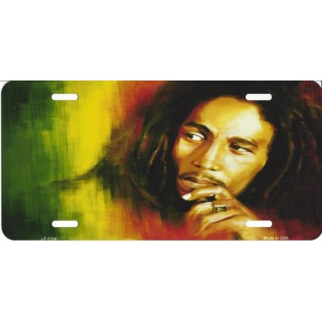 Bob Marley Metal License Plate