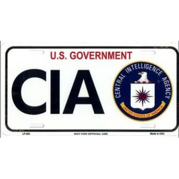 CIA Central Intelligence Agency Metal License Plate