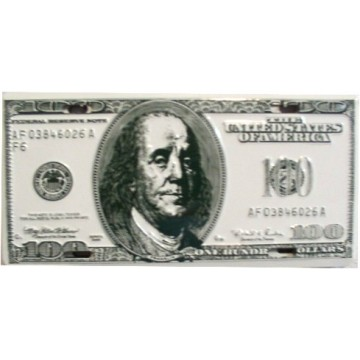 $100 Bill Metal License Plate