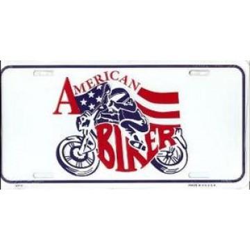 American Biker Metal License Plate