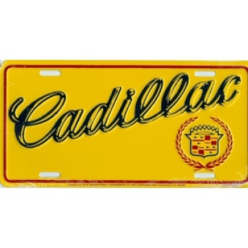 Cadillac on Yellow License Plate