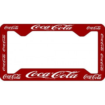 Coca-Cola License Plate Frame