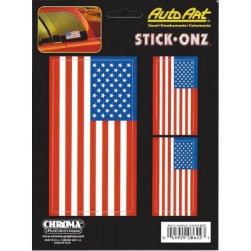 American Flag Decal Set
