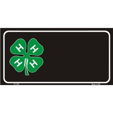 4-H Offset Metal License Plate