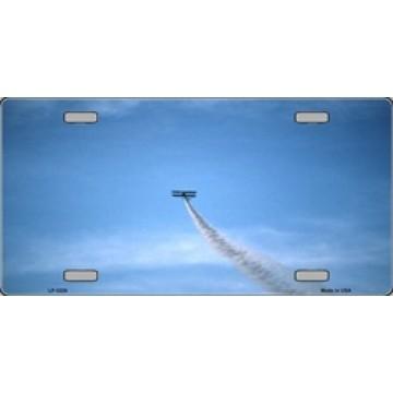 Bi Plane Metal License Plate