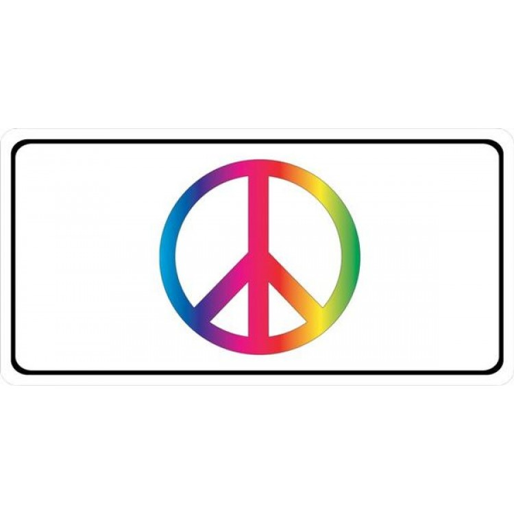 Peace Sign Photo License Plate