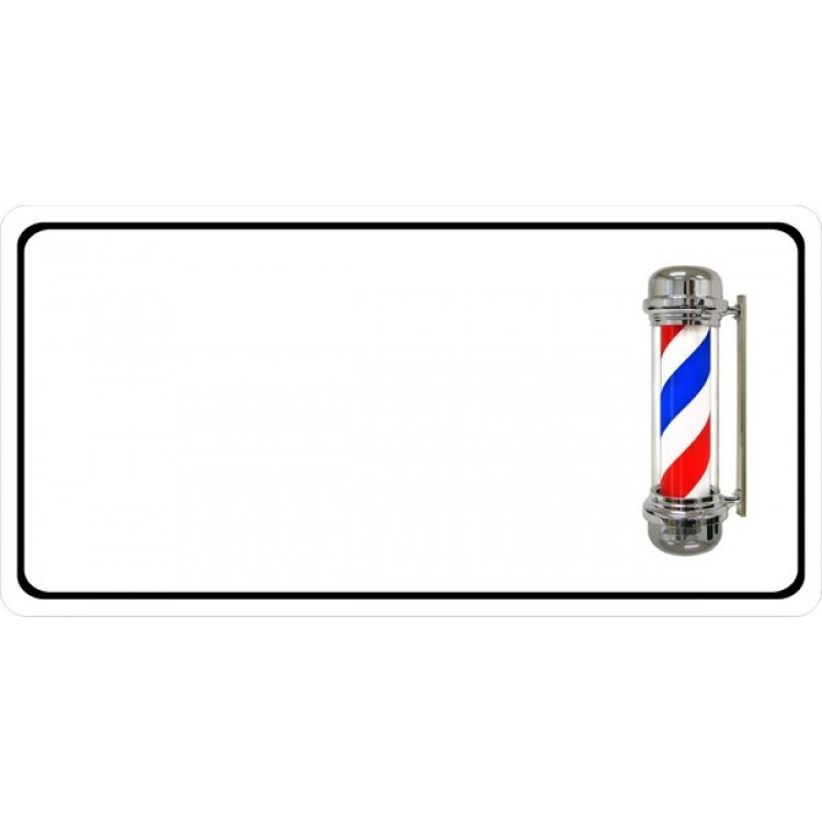Barber Pole Offset Photo License Plate