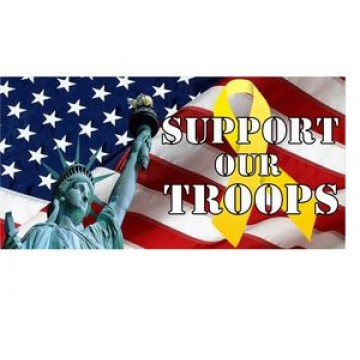 Support Our Troops Photo License Plate