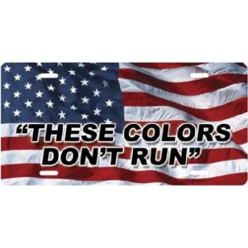 These Colors Don't Run On American Flag Airbrush License Plate