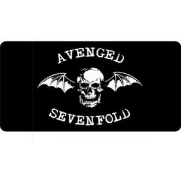 Avenged Sevenfold On Black Photo License Plate