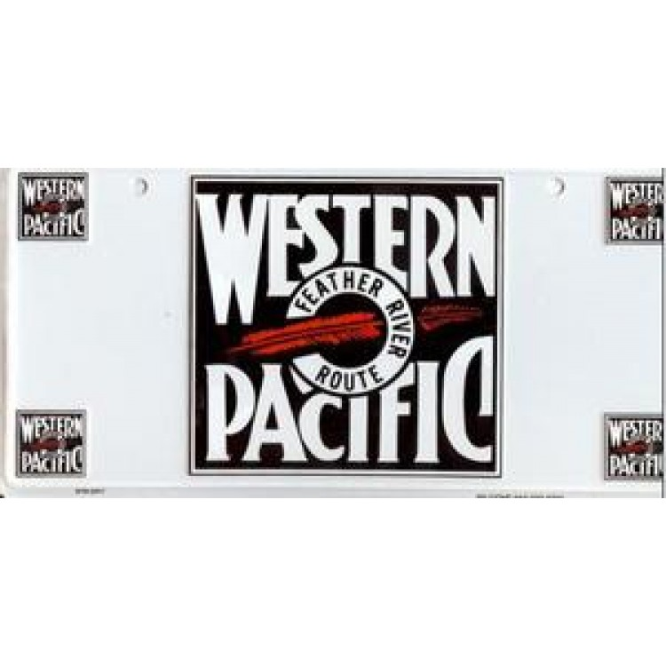 Western Pacific License Plate