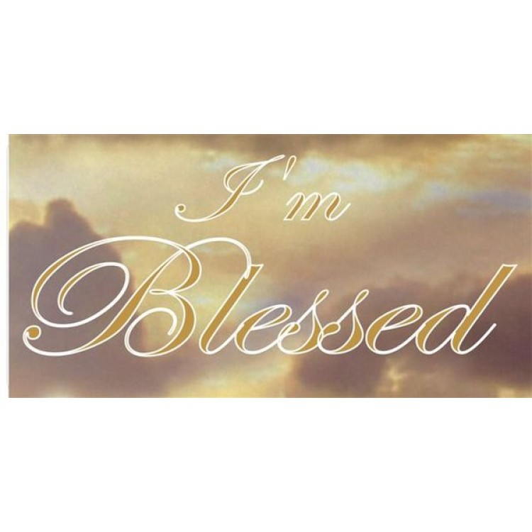 I'm Blessed Gold On Clouds Photo License Plate