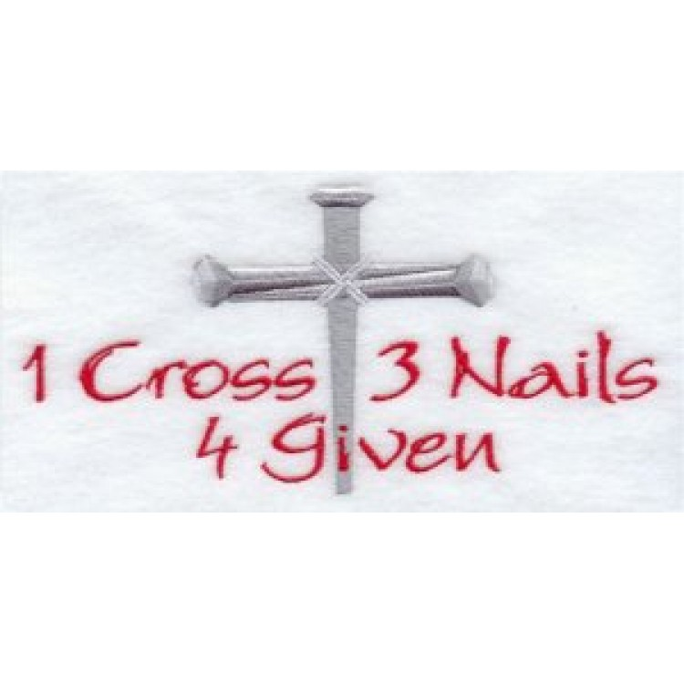 Rosary Three Nails And A Cross Is Forgiven Photo License Plate