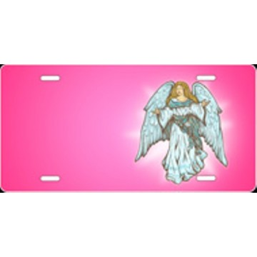 Angel Pink Airbrush License Plate