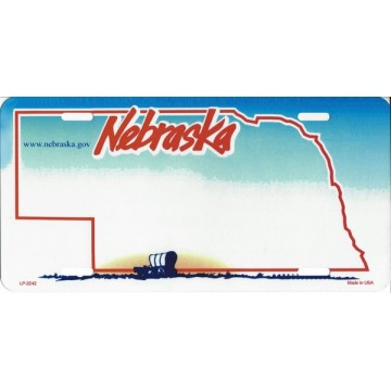 Nebraska State Look A Like Metal License Plate