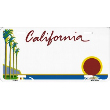 California State Look A Like Metal License Plate