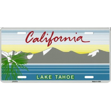 California Lake Tahoe Metal License Plate