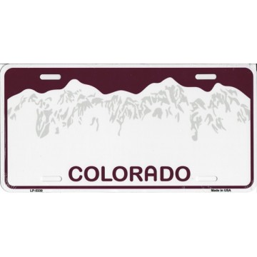 Colorado Metal License Plate