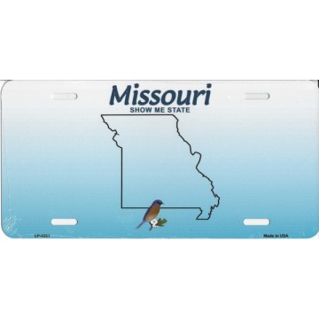 Missouri Metal License Plate