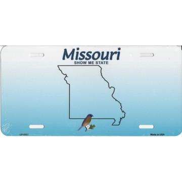 Missouri Metal License Plate