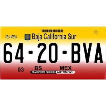 Mexico Baja California Sur Photo License Plate