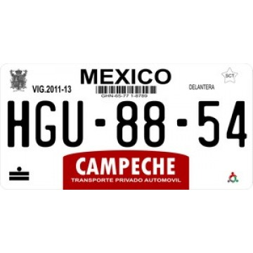 Mexico Campeche Photo License Plate